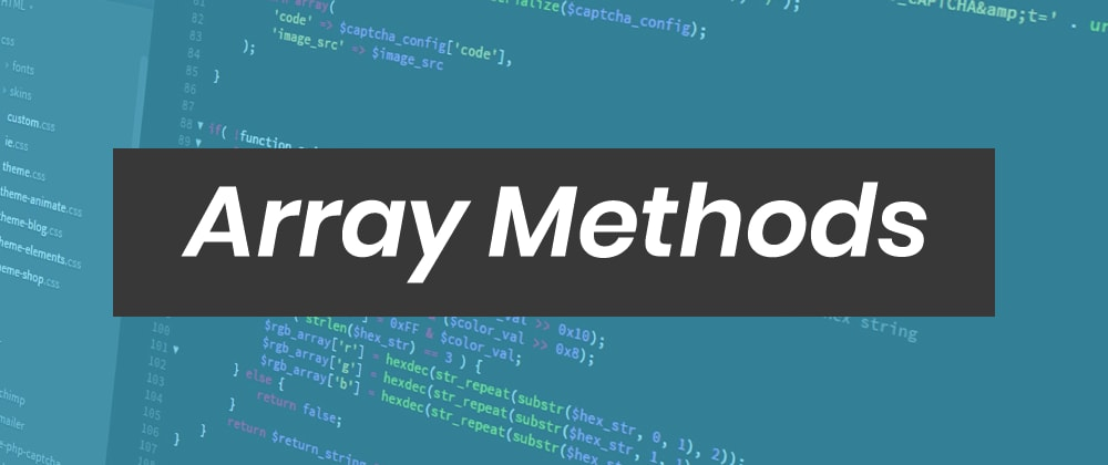 Cover Image for 5 important JavaScript array methods