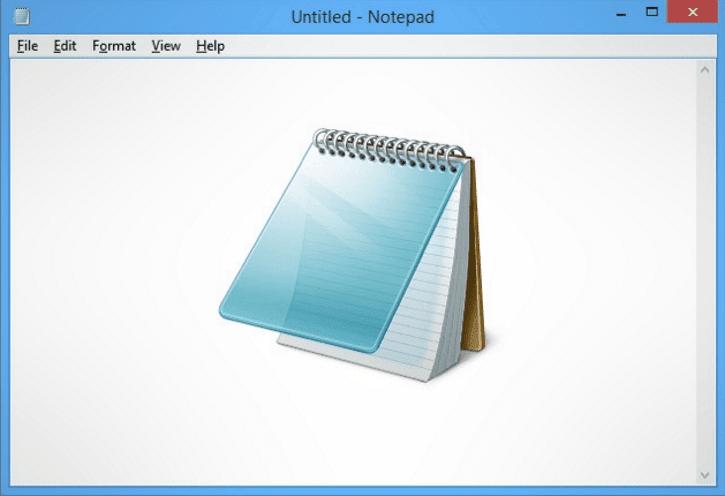 Microsoft's Notepad