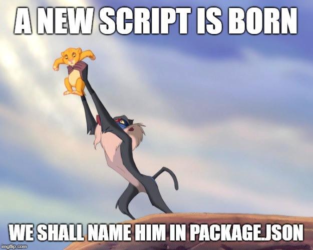 A new script is born