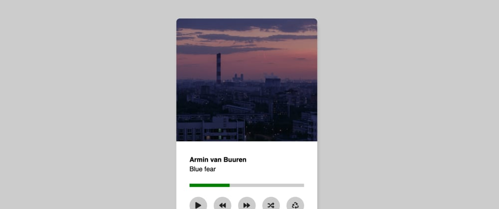 Cover image for CSS Music Player