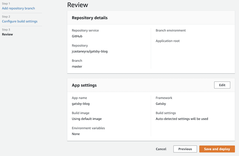 Amplify review and deploy