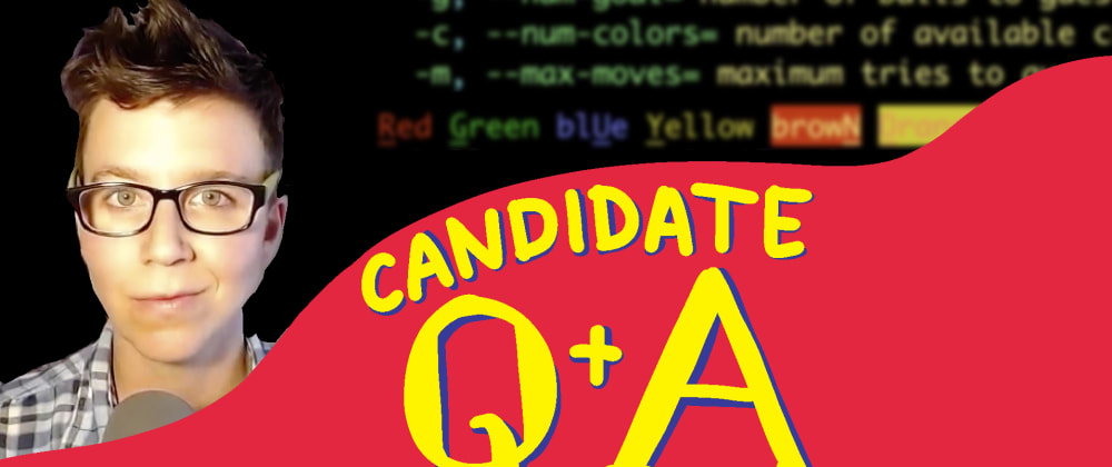 Cover image for No question is too taboo - Candidate Q&A Live Stream April 27
