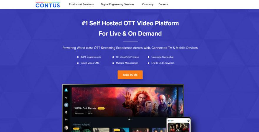 Contus Vplay OTT TV Solution