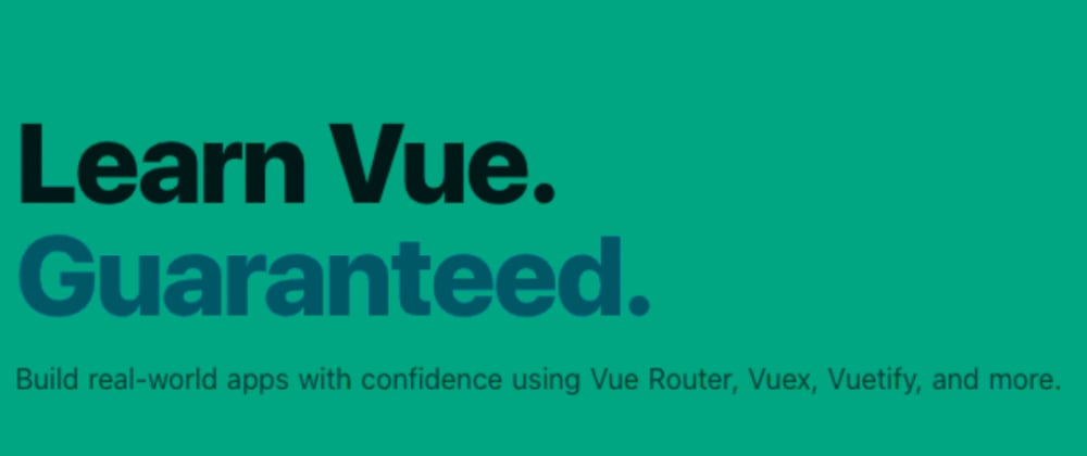 Cover image for Vue training? learn Vue super well / super fast? Yes please...