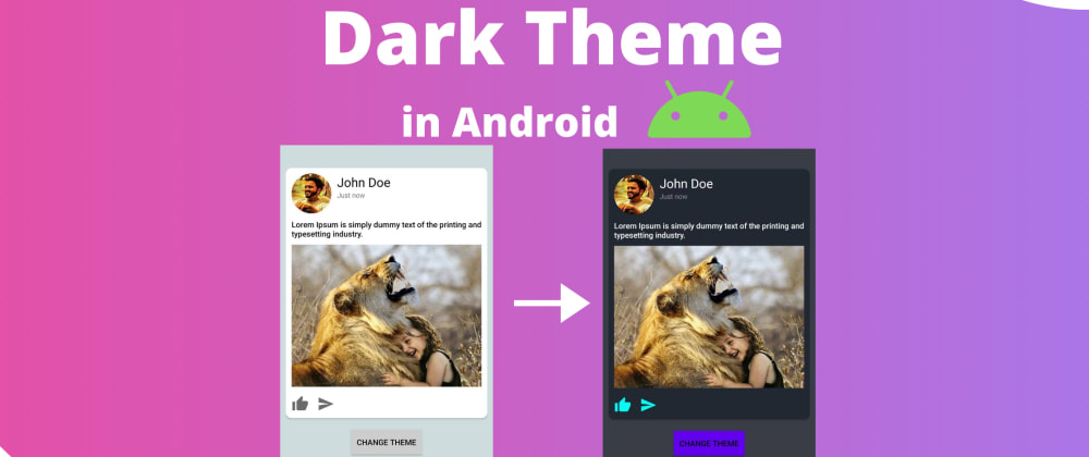 Cover image for Make Dark Mode in Android
