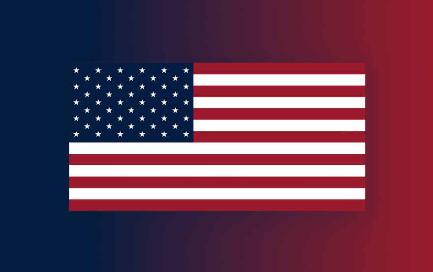 USA Flag in CSS