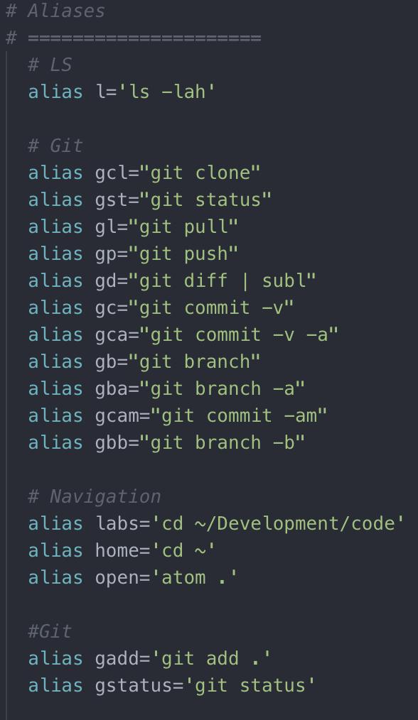 bash shortcut command examples