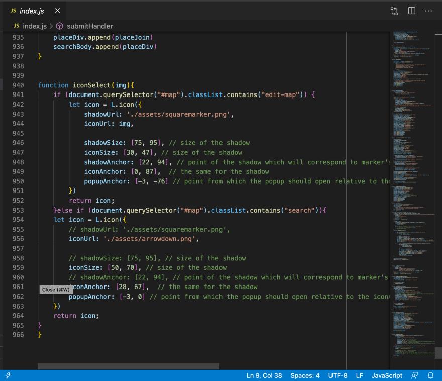Showing large javascript file