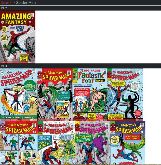 Comic results
