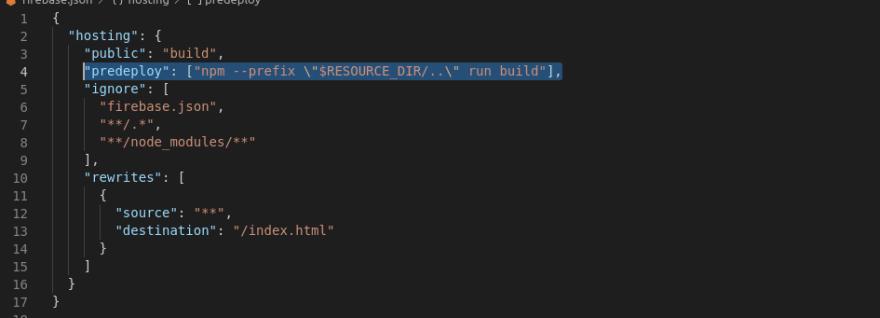 Firebase config