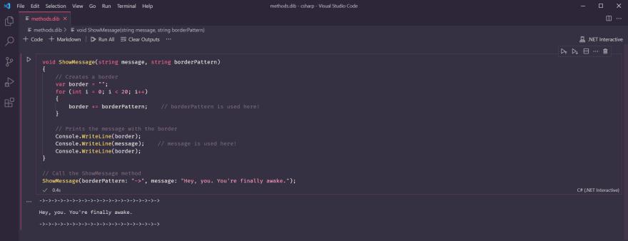 Using named parameters