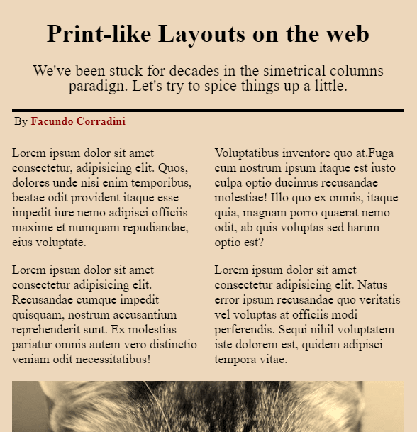 Layout With Multicolumn and CSS Grid