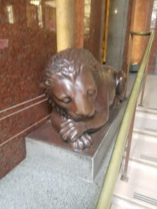 Lion outside the Atlassian Sydney office