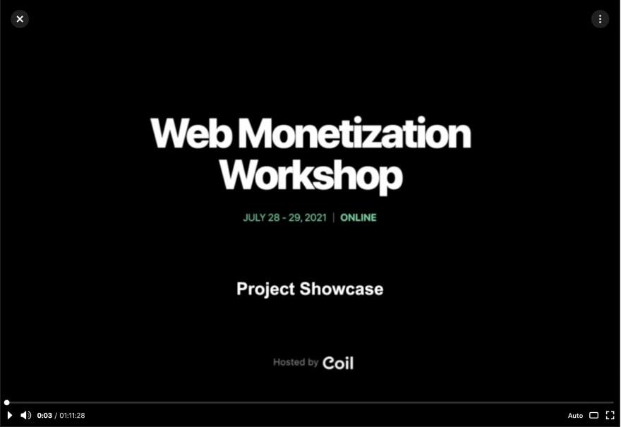 Alt Web Monetization Workshop replay