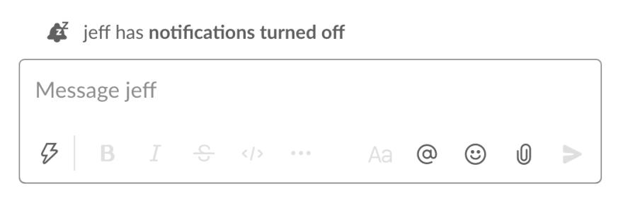 Slack's direct message view