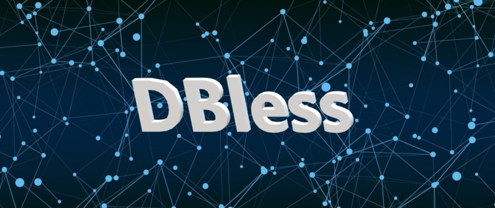 Cover image for DBless with Nucleoid runtime