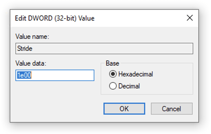 Editing a value in the Registry