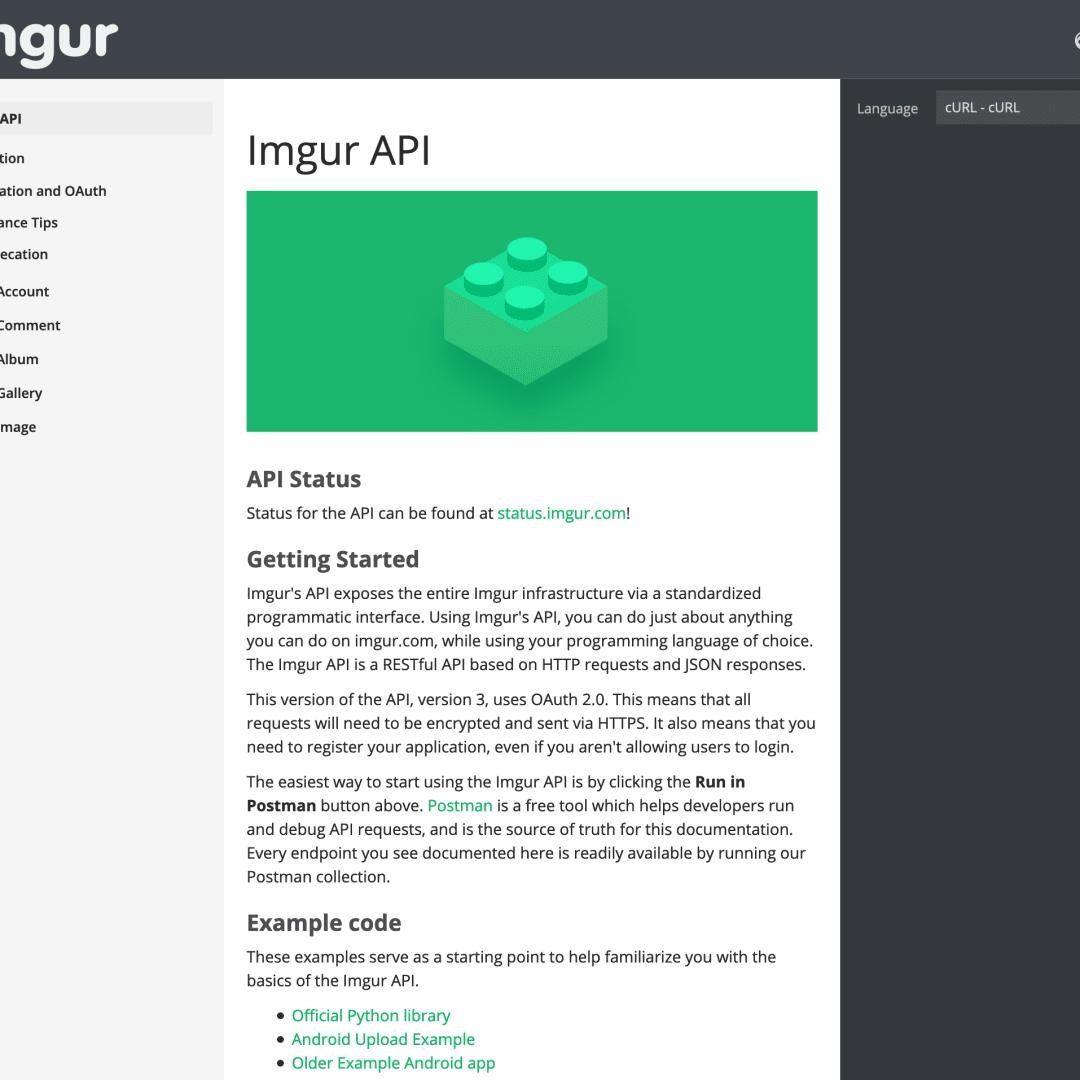 How to configure the imgur API   DEV Community