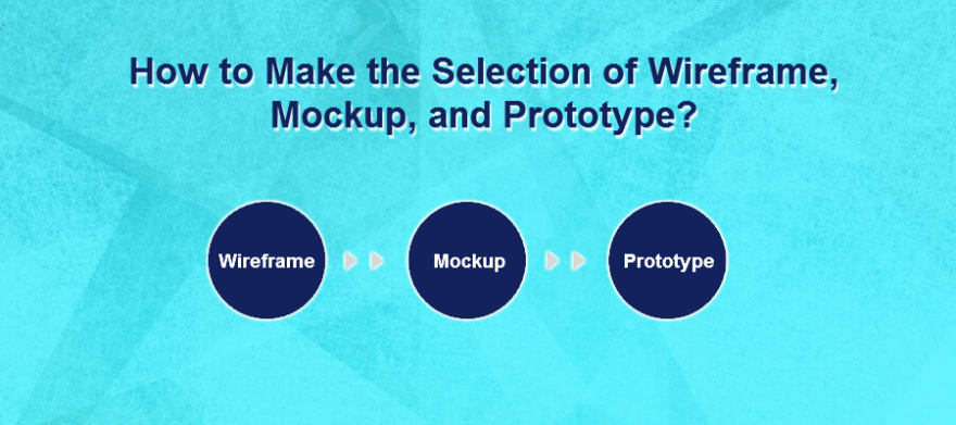 How to make the selection of Wireframe, Mockup, and Prototype