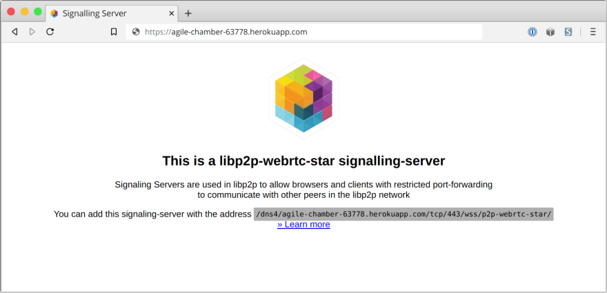 Spinning up a free IPFS webrtc-star discovery server with Heroku