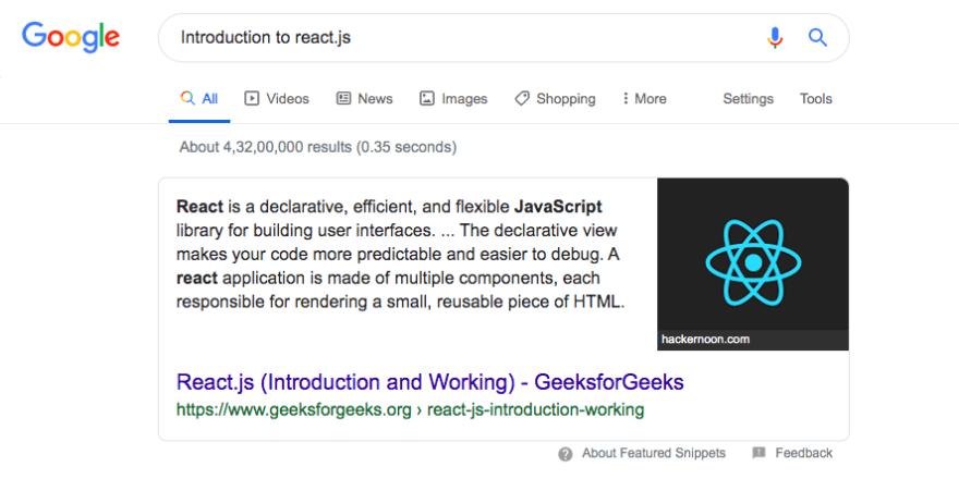reactjs intro search