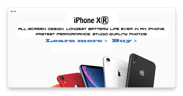 mockup design of apple.com with purposefully bad typography