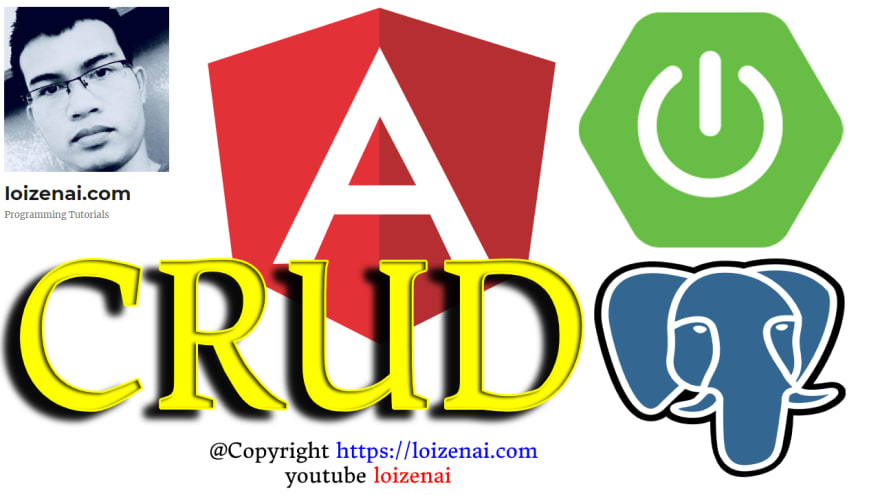 SpringBoot + Angular 10 + PostgreSQL CRUD Example