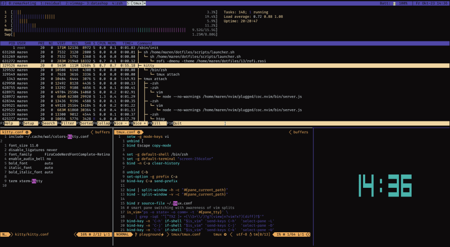 My tmux workflow - Overview