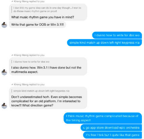Message thread on reconsidering the PICO8 idea