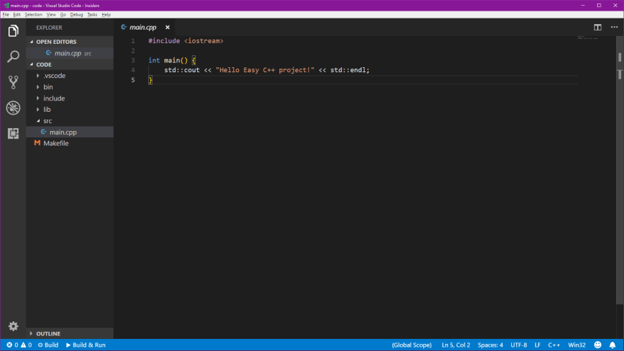 Developing C++ with Visual Studio Code - DEV Community