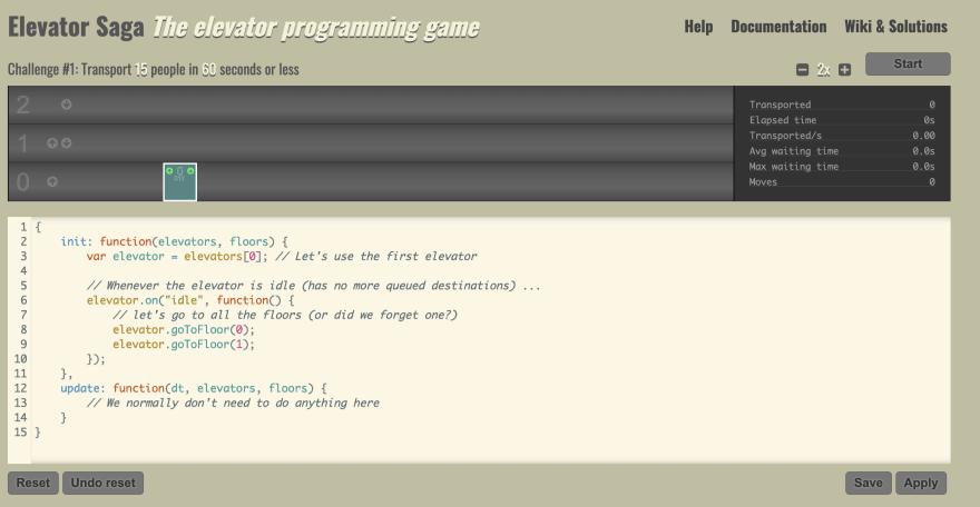 ElevatorSage javascript gaming