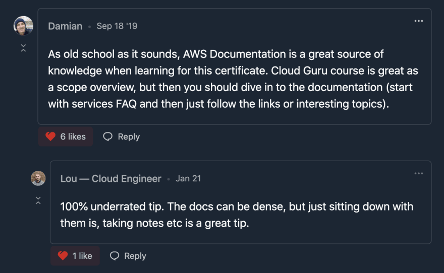 AWS Exam Docs