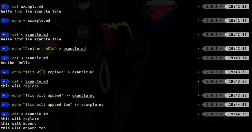 Demo io stream use in bash