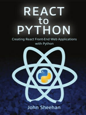 Cover image for the React to Python book