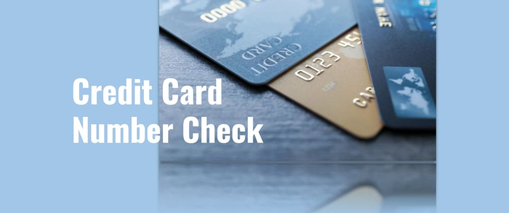 Cover image for Credit card number check