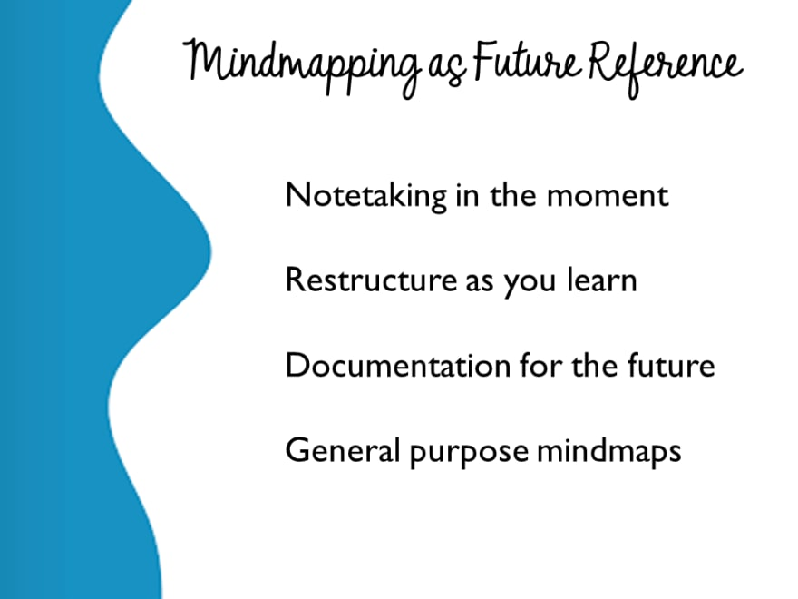 Mindmapping as Future Reference