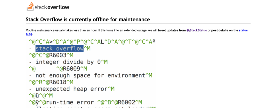 Cover image for When Stack Overflow Goes Offline...