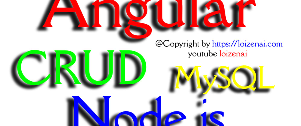 Cover image for Angular Node.js Mysql Crud Example
