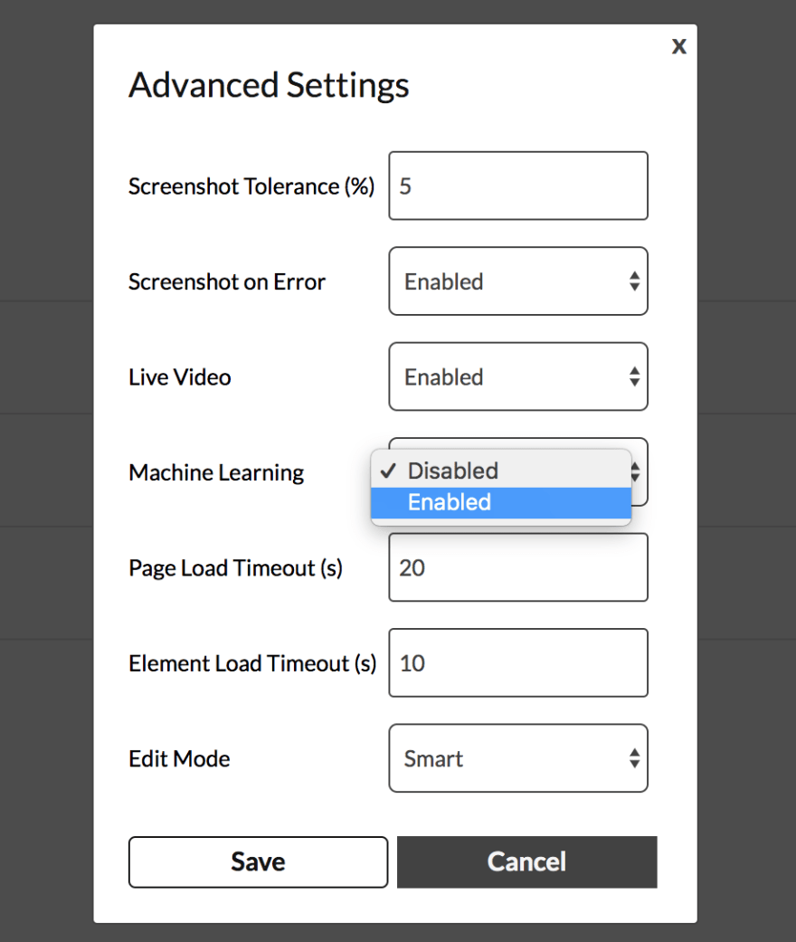 endtest advanced settings