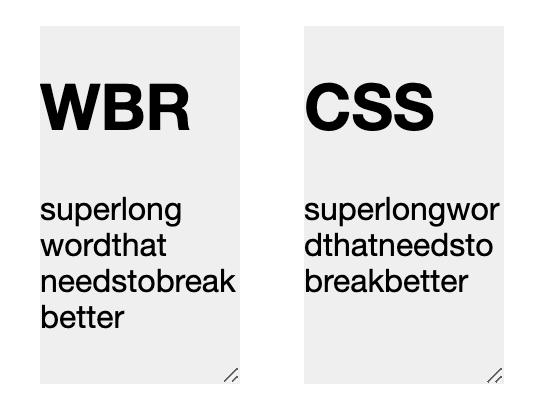 wbr vs css