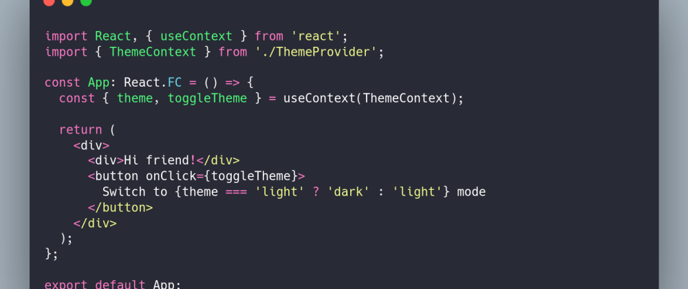 Cover image for Toggling Light/Dark Theme in React with useContext