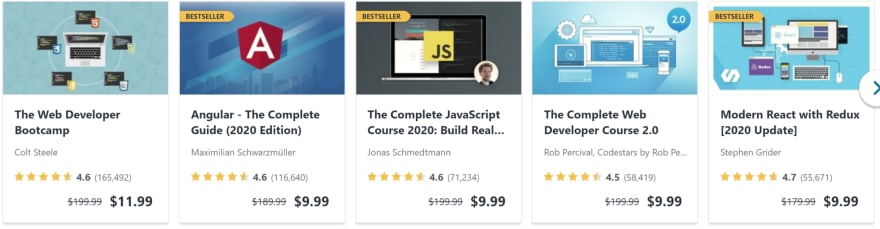 Software development courses on sale on Udemy.