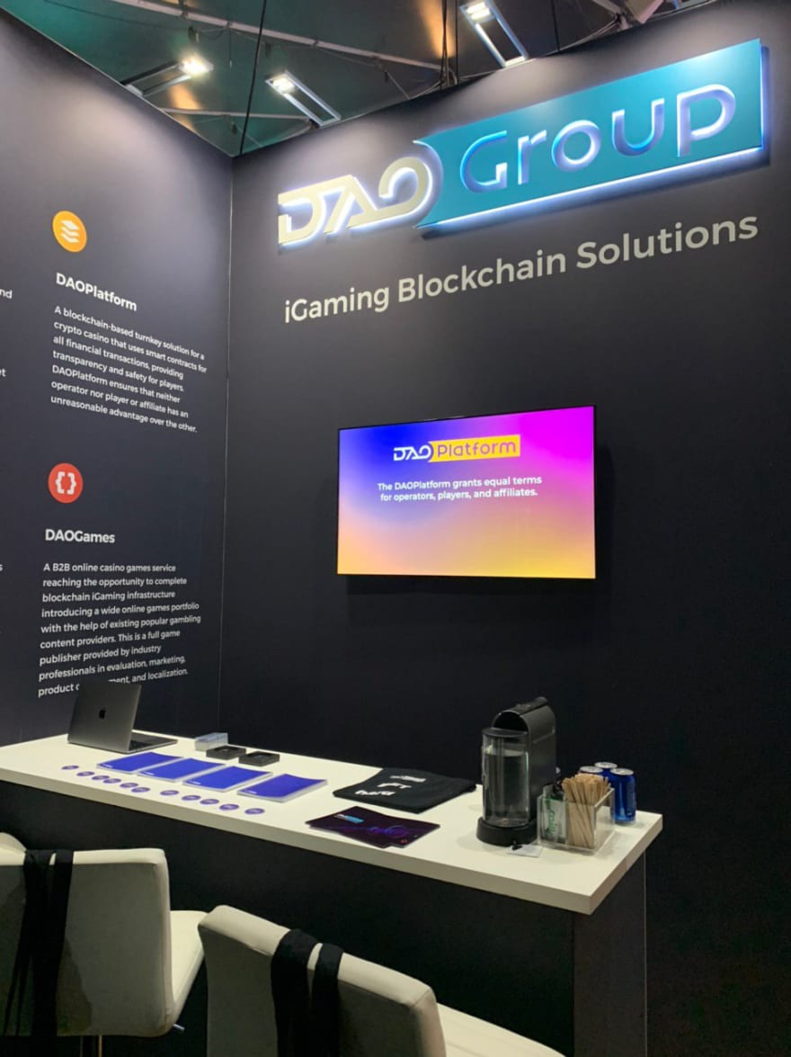 DAOGroup stand at SiGMA19