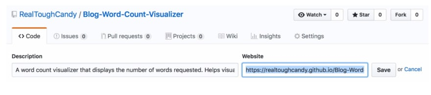 GitHub pages step 5