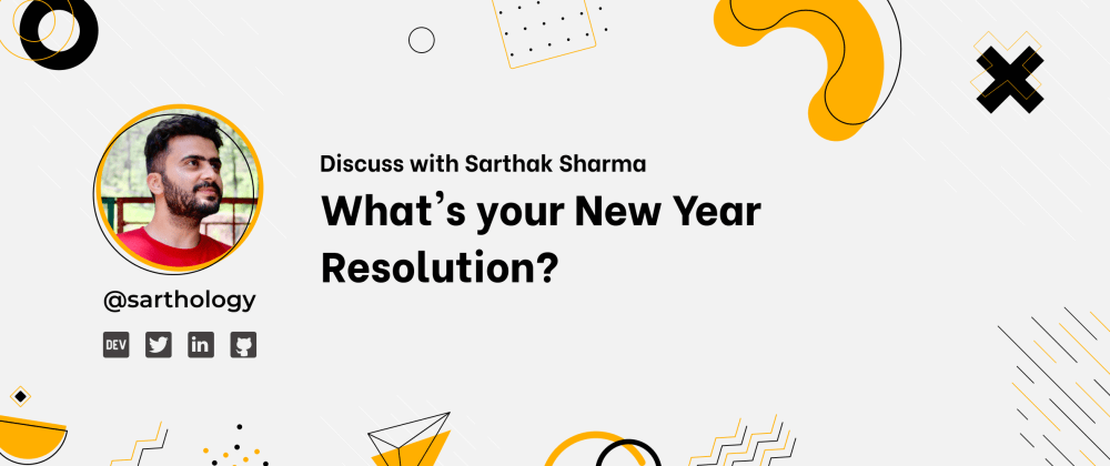 Cover image for What's your New Year Resolution? 🚀🎉