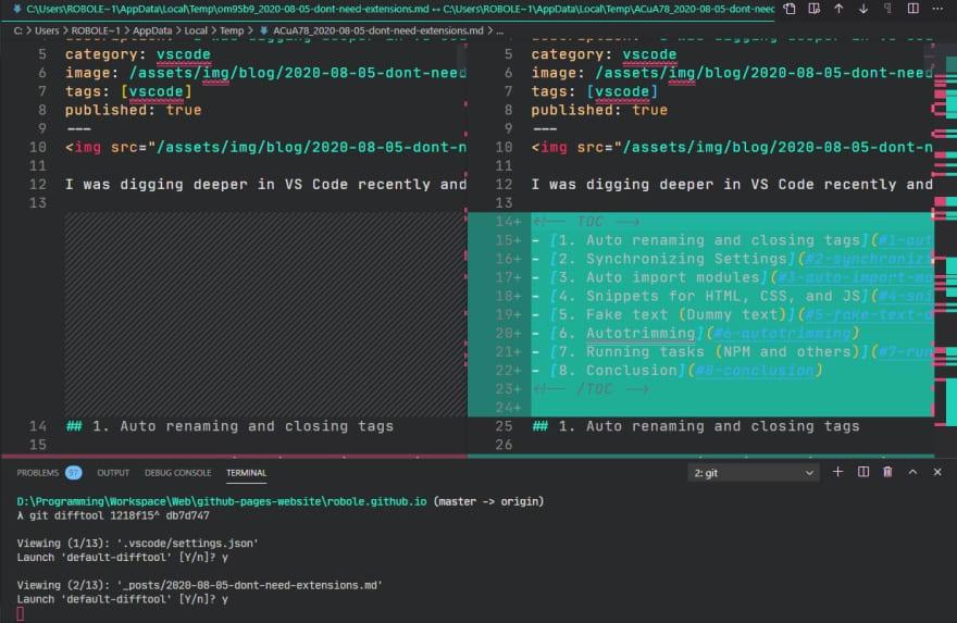 vscode diff