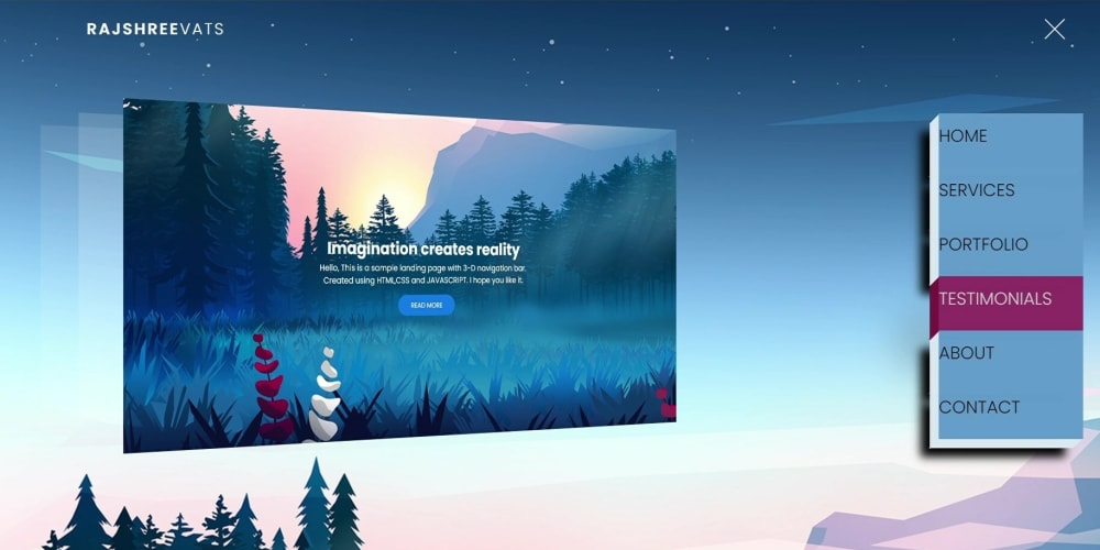 Create LANDING PAGE with 3-D Effect - DEV Community