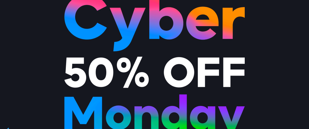 Cover image for 50% discount for any plan in the UI Bakery web app builder on #CyberMonday