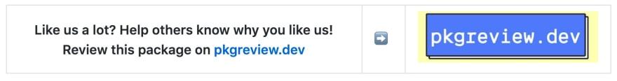 Review us on pkgreview.dev