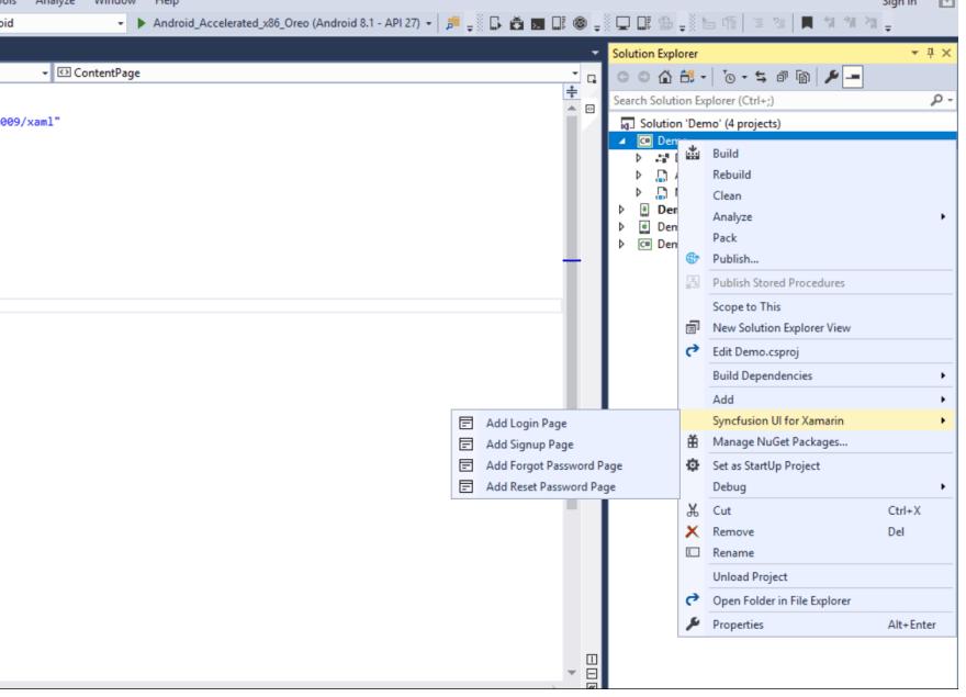 xamarin-forms-login-screen-vs-item-template